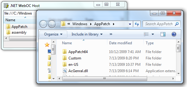 Windows Explorer launched by WebOC