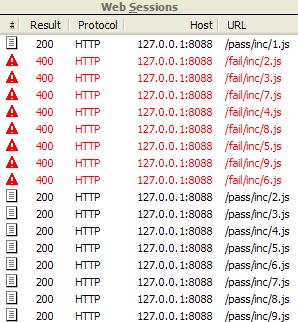Screenshot of original incorrect network traffic