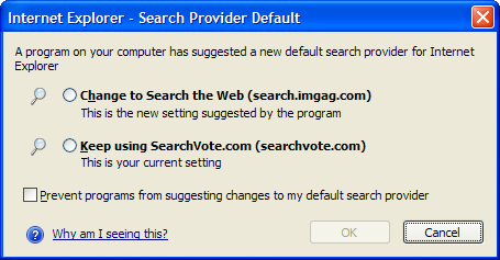 Search Protection dialog